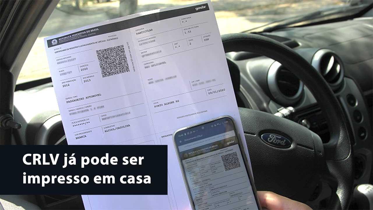CRLV de veículos de Sergipe já pode ser impresso em casa