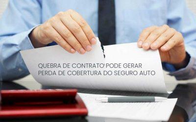 O que gera perda de cobertura do seguro auto?