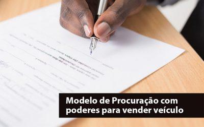 Modelo de procuração para venda de carros