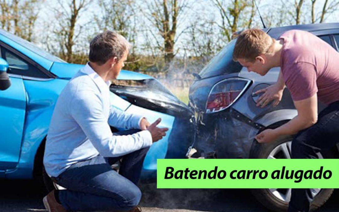 E se você bater o carro alugado, o que acontece?