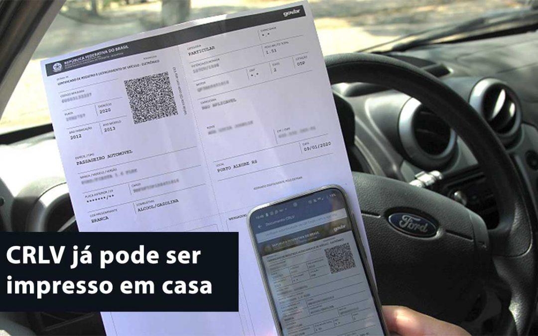 Proprietários de veículos em Sergipe já podem imprimir em casa o Certificado de Registro e Licenciamento de Veículo – CRLV
